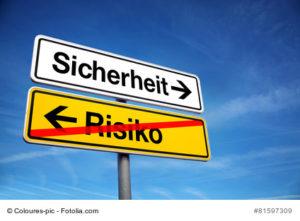 Foto Schilder Sicherheit / Risiko