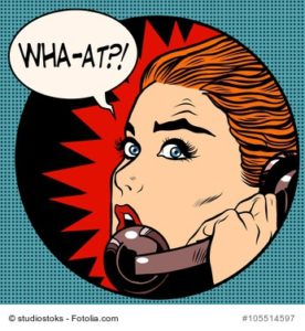 Illustration Frau mit Telefon