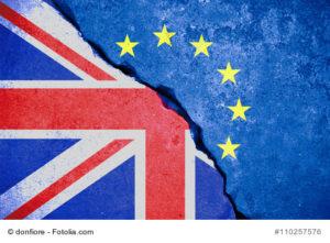 Britische und europäische Flagge