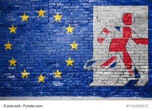 Bild auf Mauer zum Brexit
