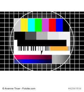 Testbild eines Roehrebildschirms