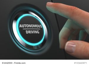 Button Autonomes fahren