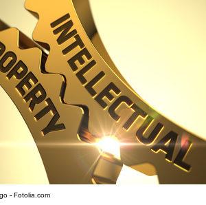 Zahnraeder mit Beschriftung Intellectual Property